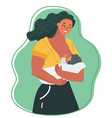 motherhood and lactation concept vector image