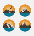 mountain landscapes in a circle vector image vector image