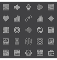 Musical studio linear icons vector image vector image