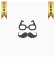 Nerd glasses and mustaches vector image vector image