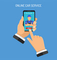 online car services concept vector image vector image