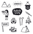 Outdoor adventures doodle set vector image vector image