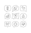 pacifier newborn and baby toys icons footprint vector image