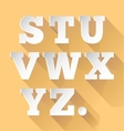 Paper alphabet S-Z vector image
