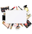paper card with makeup vector image
