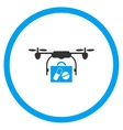 Pharmacy Case Nanocopter Delivery Icon vector image vector image