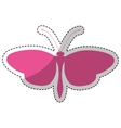 pink butterfly icon vector image