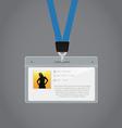 Plastic ID Badge vector image vector image