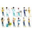 professional women set vector image vector image