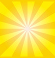 retro yellow ray background in vintage style vector image vector image