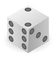rubber dice icon isometric style vector image