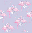 seamless flamingo pattern vector image vector image
