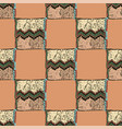 seamless pattern traditional african zigzag vector image vector image