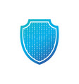 security concept isolated shield with binary code vector image vector image