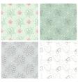set four flower patterns vector image vector image