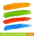Set of Colorful Watercolor Brush Strokes vector image vector image