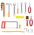 set of instruments for renovation vector image