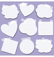 set paper stickers with tape vector image vector image