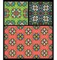 set ten ethnic patterns vector image vector image