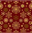 snow pattern on red background vector image vector image