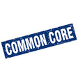 Square grunge blue common core stamp vector image