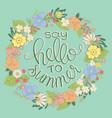 summer logo design for banner poster cover vector image vector image