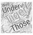Traits of the Tiger Word Cloud Concept vector image vector image