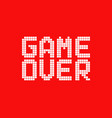 white game over logo in pixel art style vector image