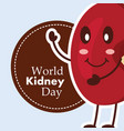 world kidney day card medical awareness care vector image vector image