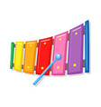 xylophone music toy cartoon vector image