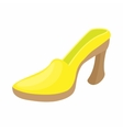 Yellow shoe icon cartoon style vector image vector image