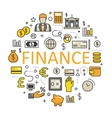 Finance and Money Line Art Thin Icons vector image