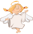 Cute Angel Cartoon Character vector image