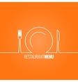 plate fork knife design background vector image