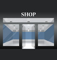 shop with glass windows and doors front view vector image