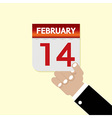 14th February Calendar vector image vector image
