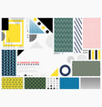 abstract geometric pattern colorful background vector image vector image