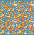 autumn elements fine pattern vector image vector image