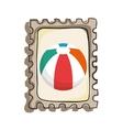 beach balloon isolated icon vector image vector image