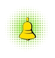 Bell icon in comics style vector image vector image
