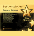 best monthly employee business diploma recognition vector image vector image