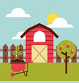 big farm flat vector image vector image