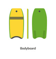 Body Board vector image vector image