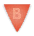 Bunting flag letter B vector image