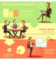 Businessman Infographic Set vector image