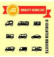 camper van quality icons vector image vector image