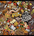 cartoon doodles back to school frame vector image