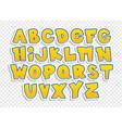 cartoon font vector image vector image