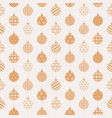 christmas seamless pattern with golden and white vector image vector image