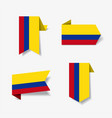 colombian flag stickers and labels vector image vector image